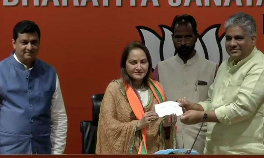 Actor-politician Jaya Prada joins BJP