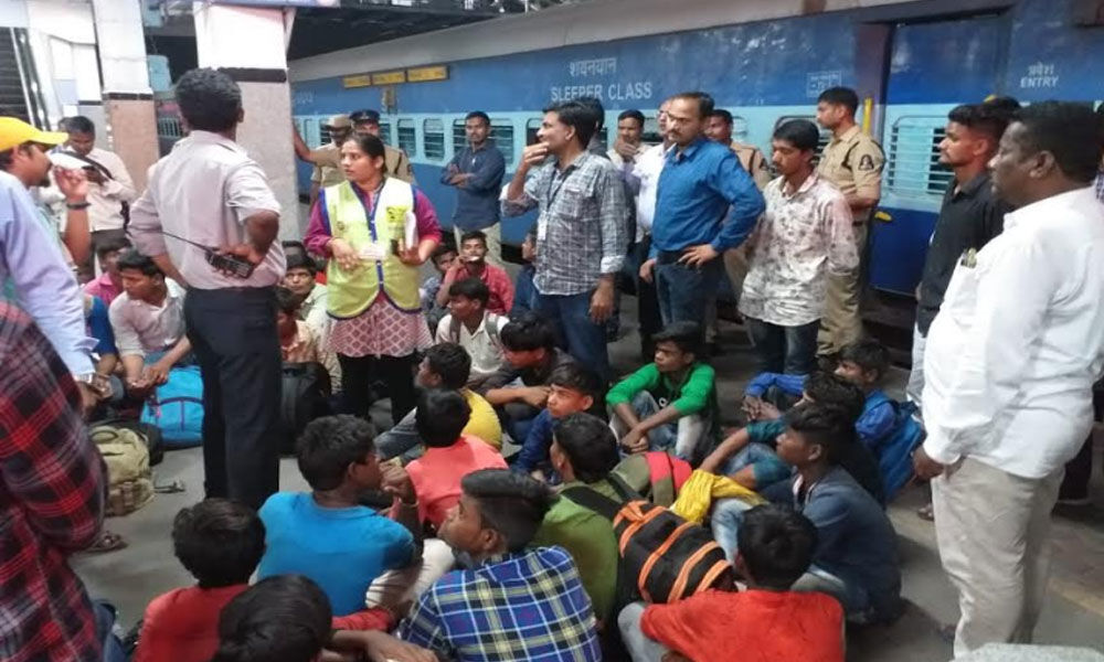Child labourers rescued from Danapur Express in Secunderabad Railway Station