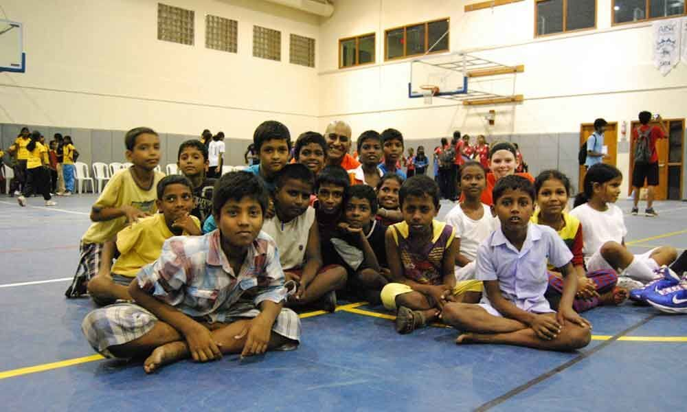Delhi basketball camp for underprivileged kids