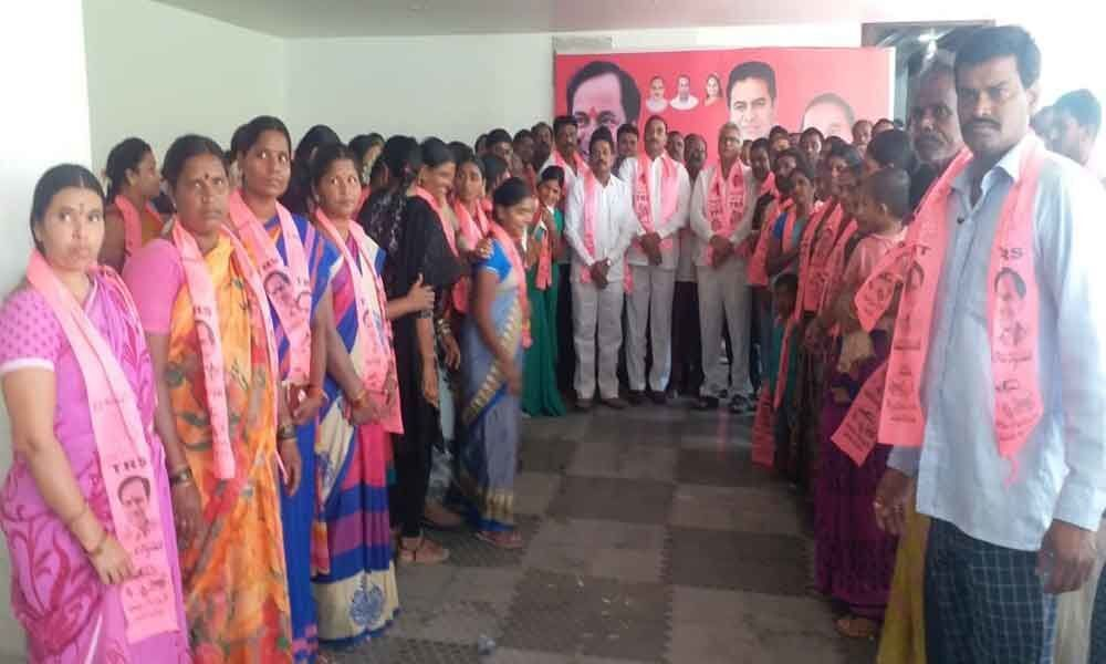 TDP party workers join TRS party