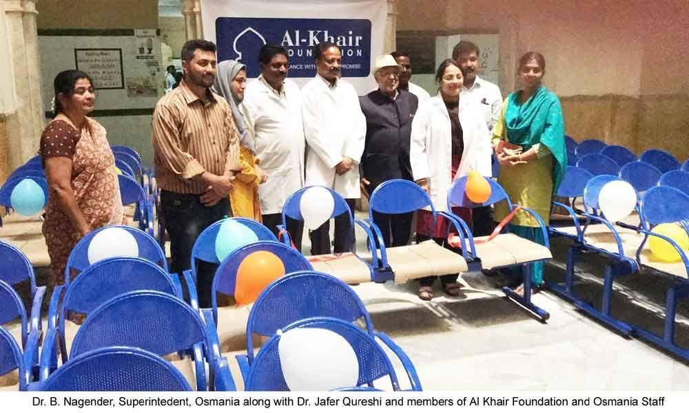 Al Khair foundation gesture to Osmania General Hospital