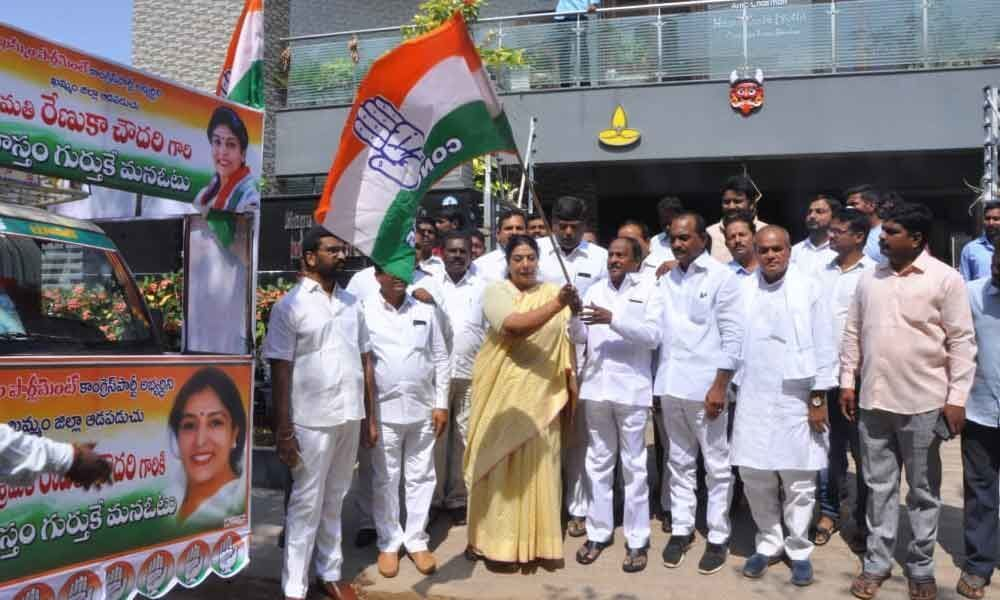 Renuka flags off campaign vehicles