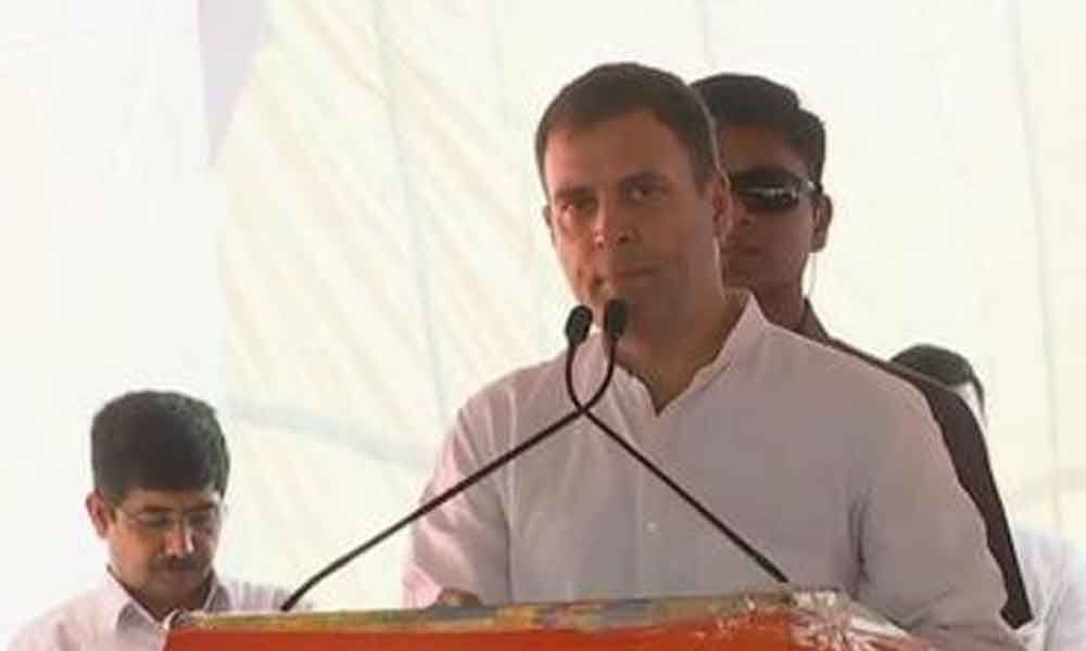 Modi protects rich, Congress bats for the poor, weaker sections: Rahul Gandhi