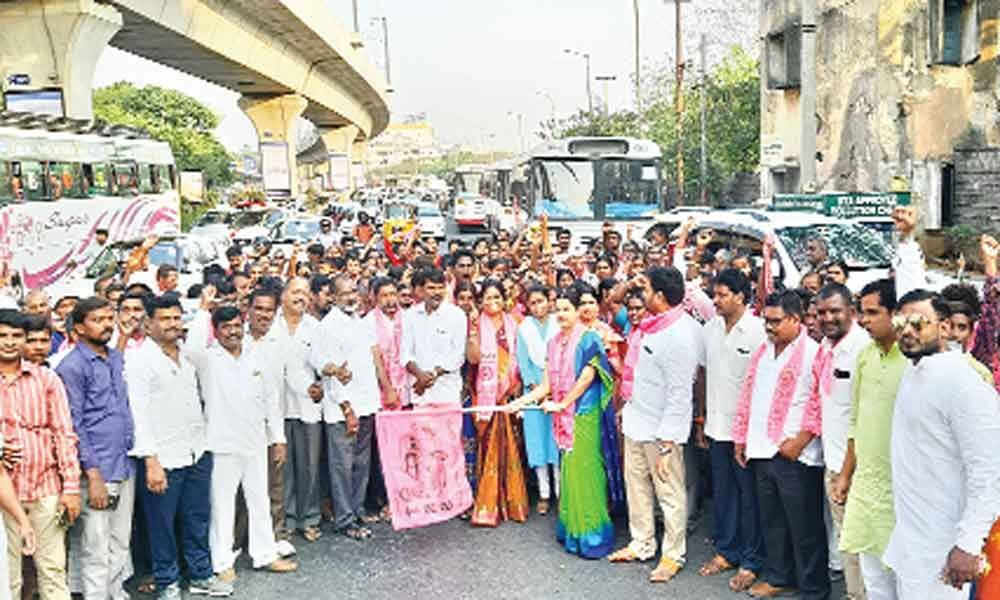 TRS corporator flags off rally