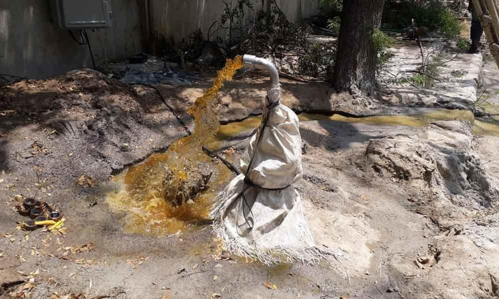 GHMC borewell supplies polluted water
