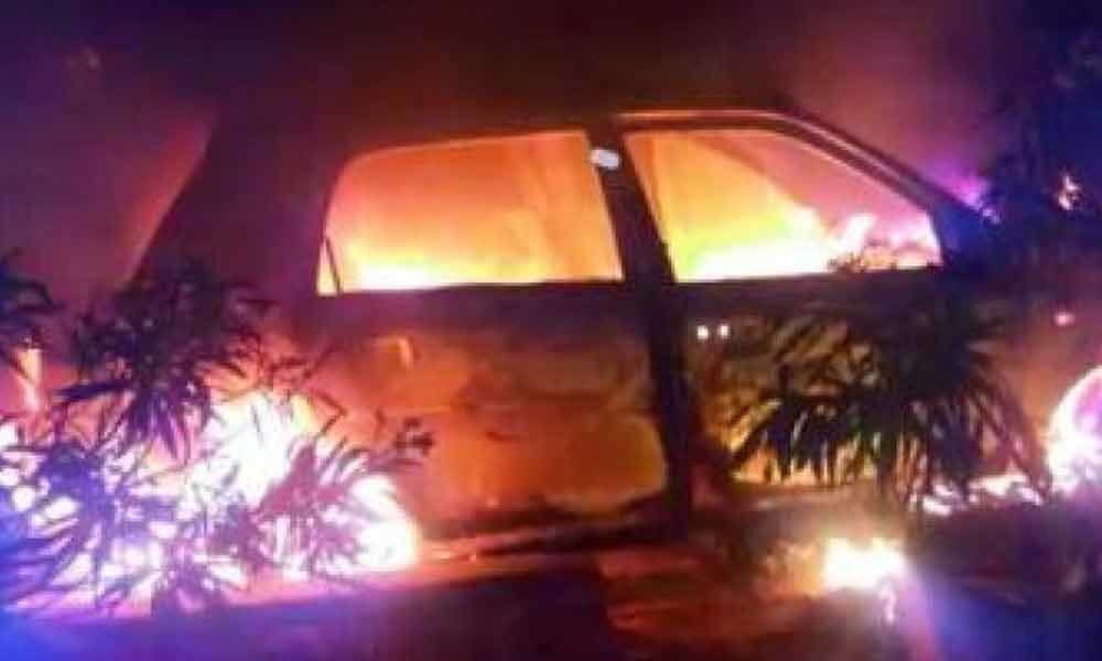 5 burnt alive as car catches fire after collision in UP