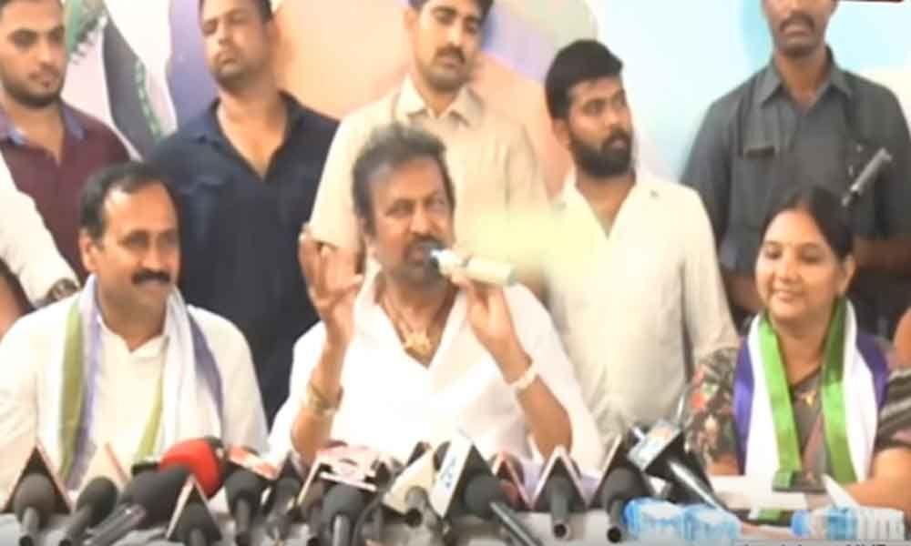 Chandrababu Naidu has 12 cases, says actor Mohan Babu