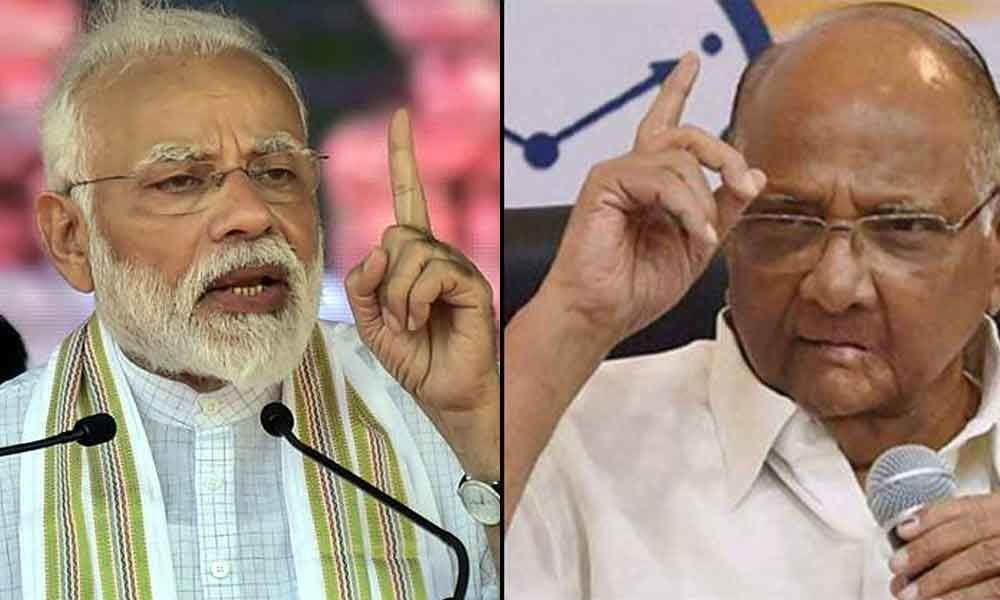 PM Modi says Sharad Pawar hit a wicket by nephew Ajit; NCP says BJP doesnt respect elders like Advani