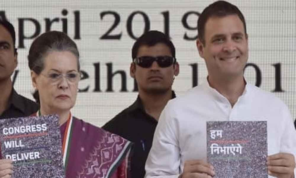 Congress releases 2019 Lok Sabha election manifesto