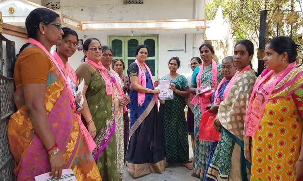 Lakshmi campaigns for Marri