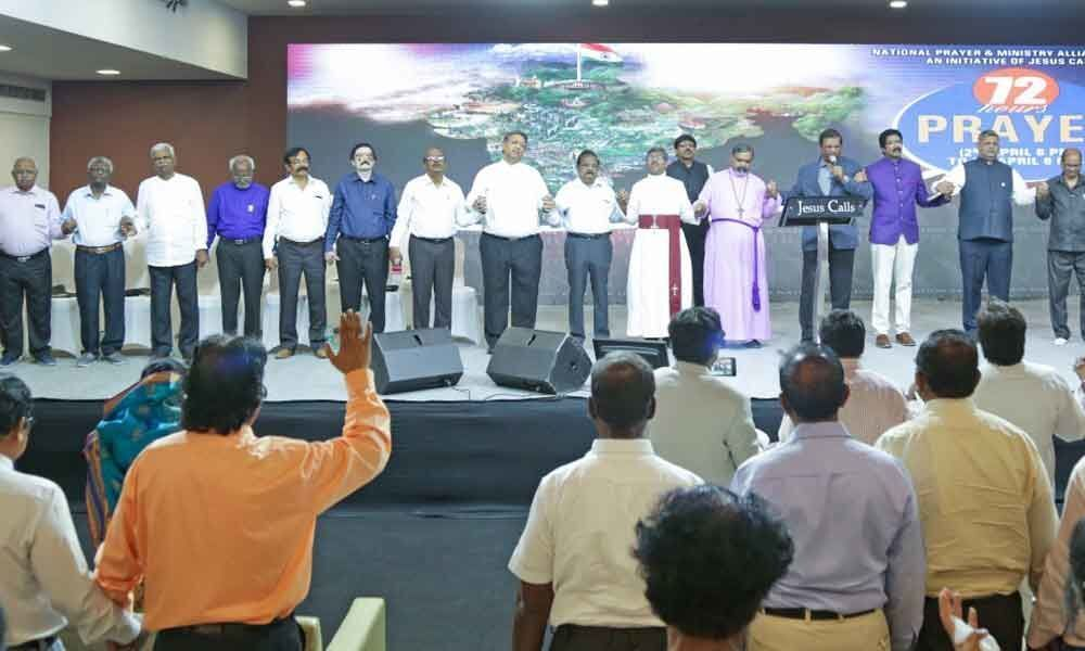 72-hour prayer held for nation
