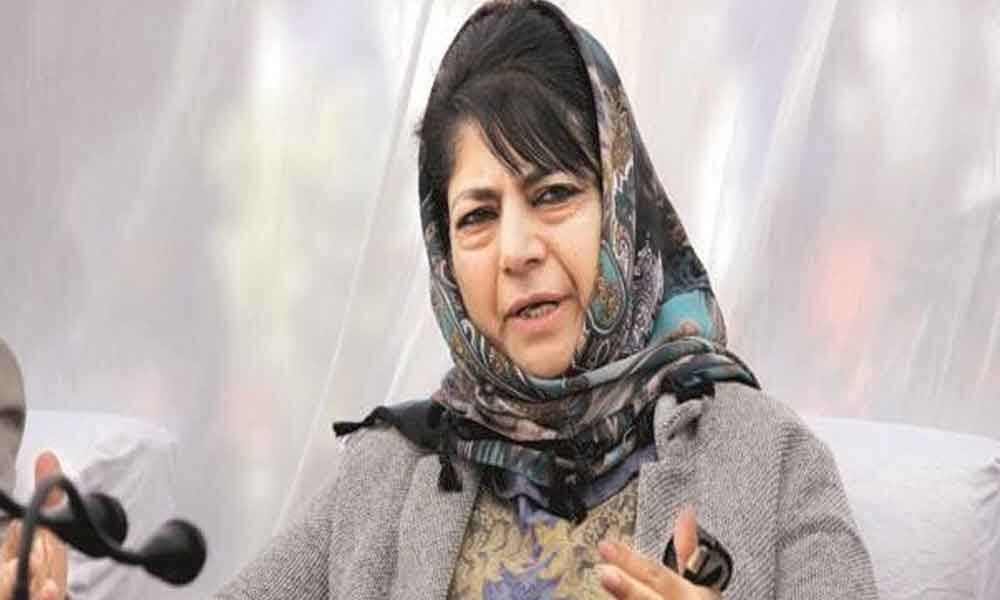 BJPs blame on Opposition equivalent to dog ate my homework in school: Mehbooba Mufti