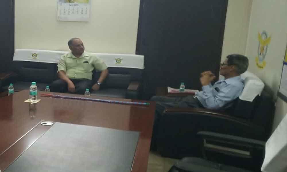 GOC of AP and TS visits Vayupuri Colony