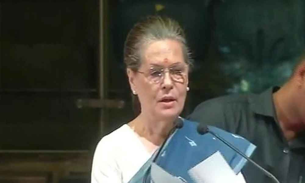 A new definition of patriotism being taught: Sonia Gandhi jibs at Modi government