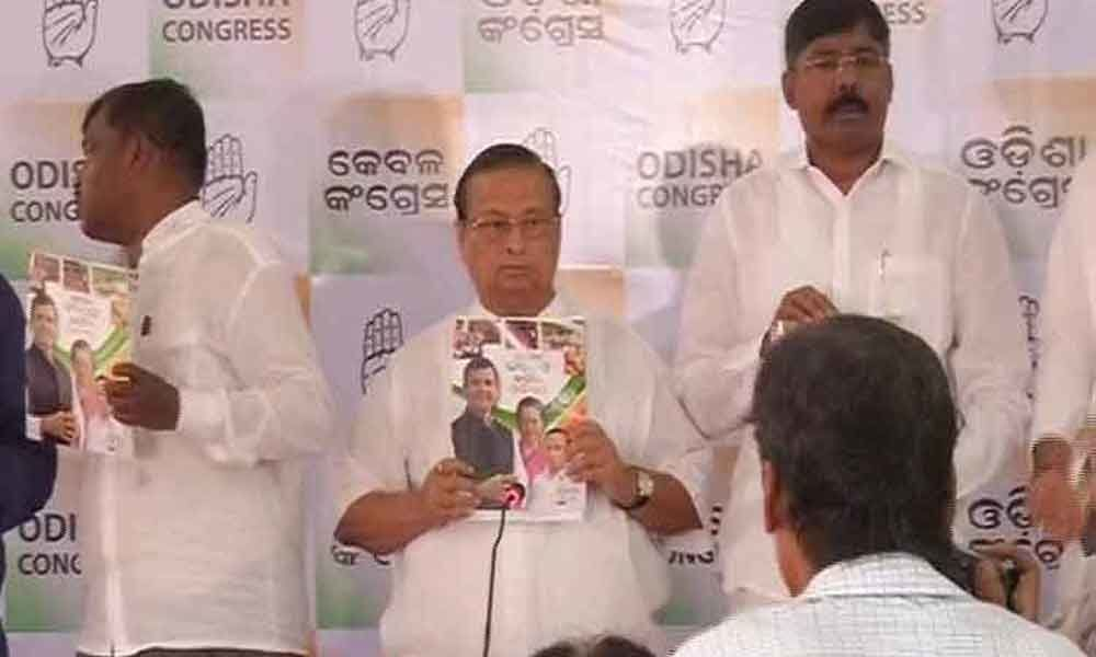 Congress releases manifesto for Odisha elections
