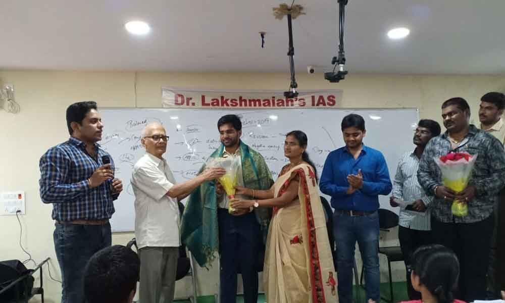 IAS topper from Telugu States felicitated