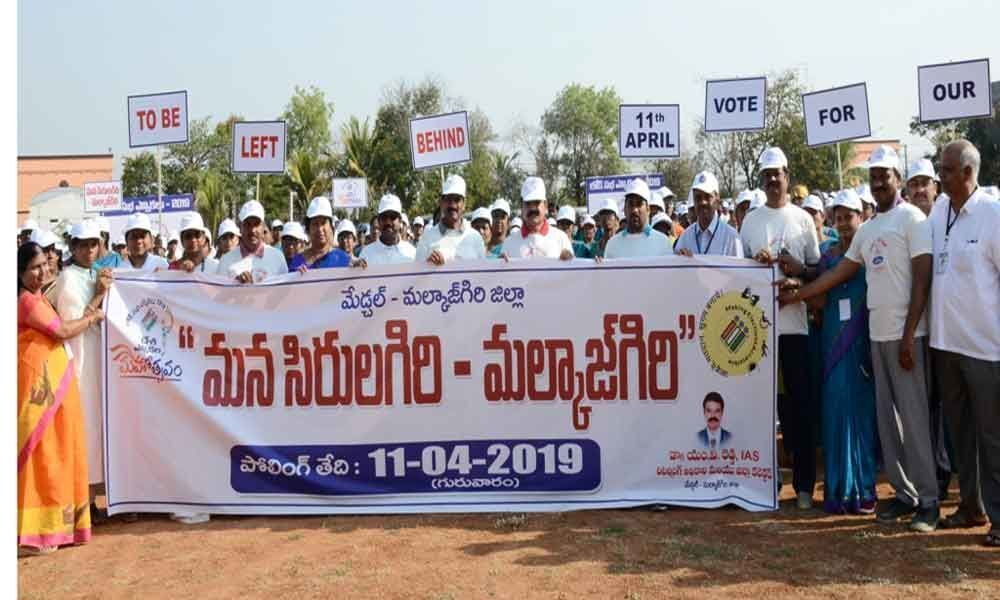 Collector holds 2k Run to create voter awareness