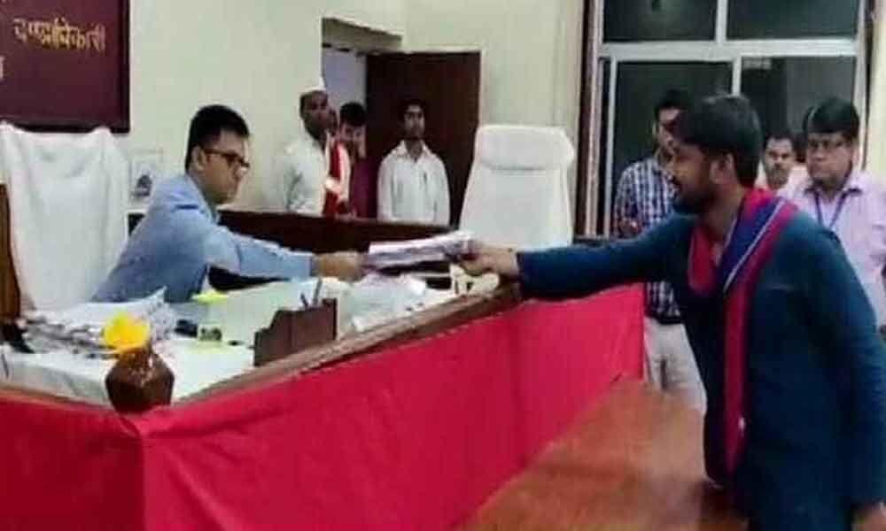 Kanhaiya Kumar files nomination from Begusarai