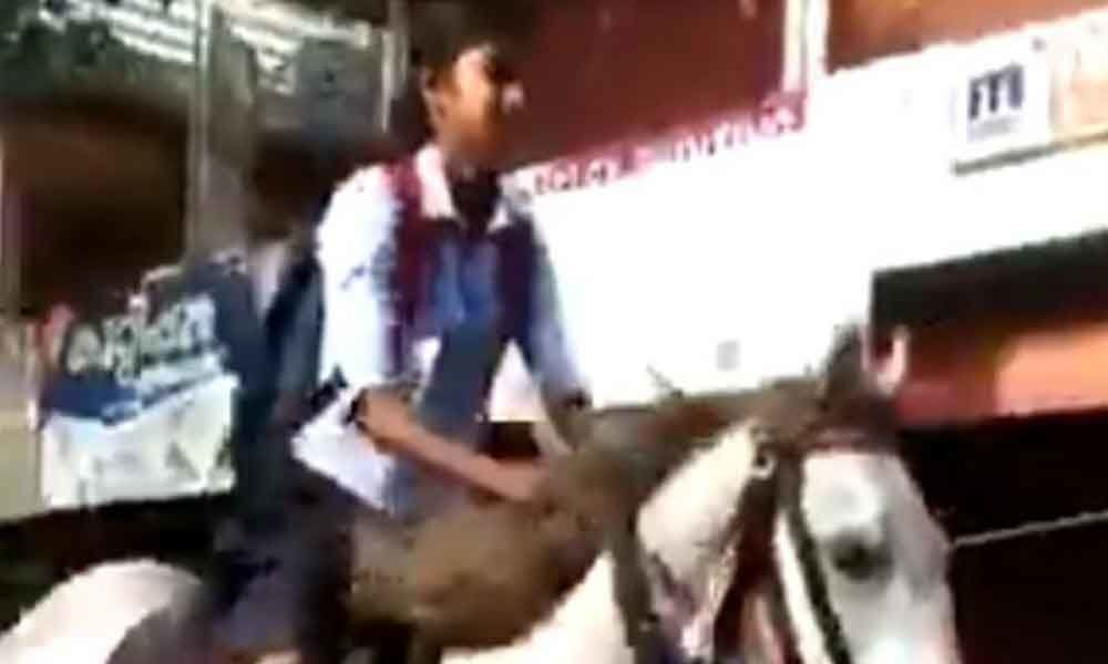 Kerala girl rides a horse to school for a special reason; video goes viral