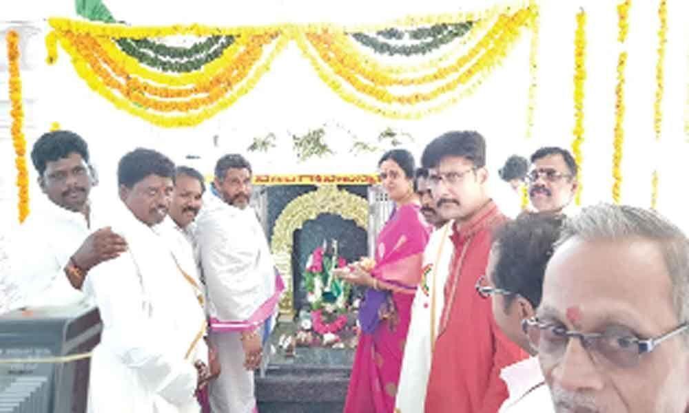 Special prayers held as idol installed
