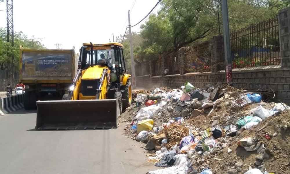 Garbage piles up near CRIDA boundary wall