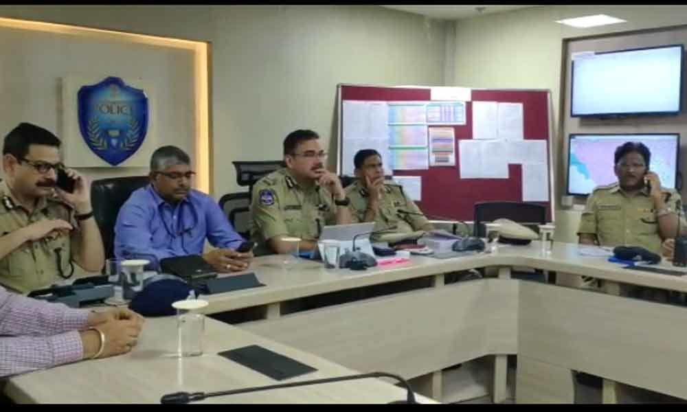 TS Police higher officials reviewed the polling situation, said everything peaceful till now
