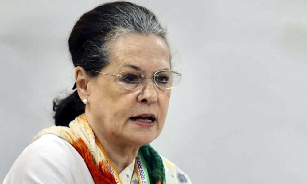 Flanked by family, Sonia Gandhi holds mega roadshow in Rae Bareli before poll nomination
