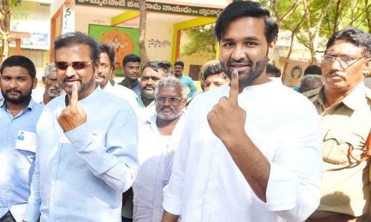 Celebrities, commoners mingle as voters
