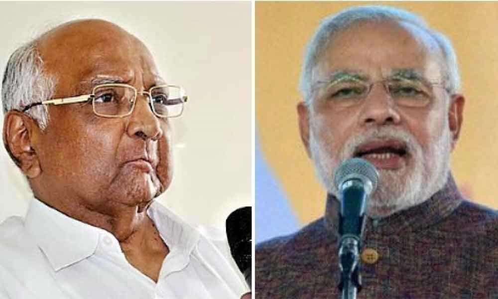 PM Modi taunts Sharad Pawars studied silence