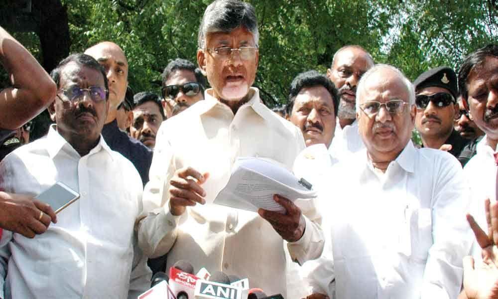 Chandrababu Naidu takes ballot paper war to Delhi