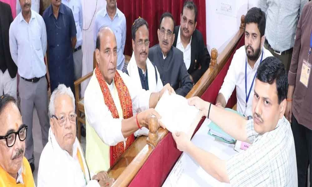Rajnath Singh files nomination from Lucknow for Lok Sabha