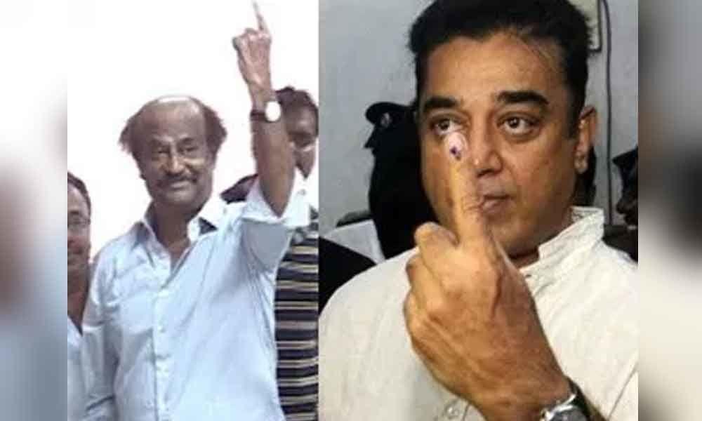 LS Polls 2019: Celebrities including Rajinikanth, Kamal Hassan, cast their votes in Tamil Nadu