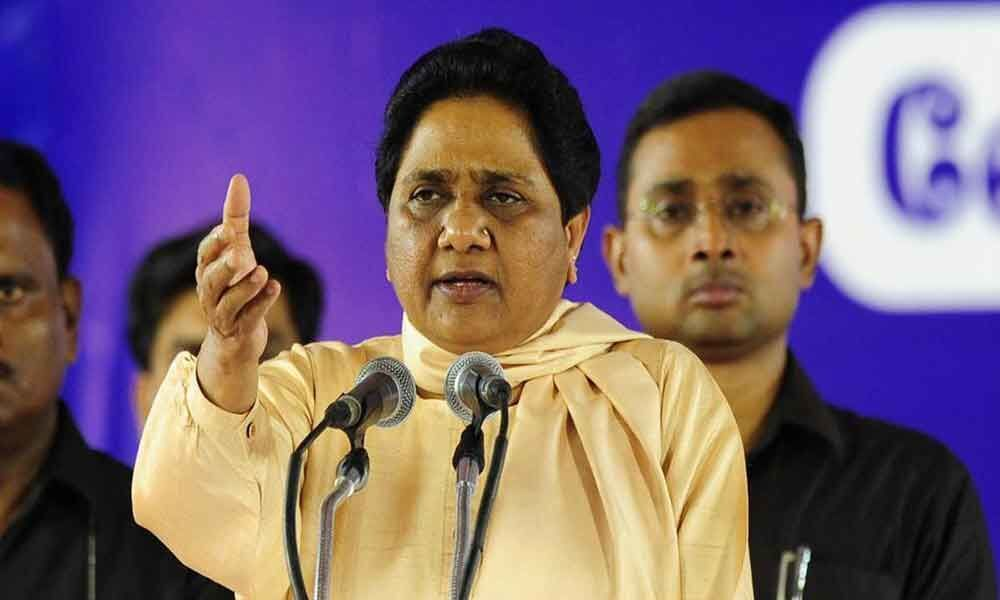 Shortly after returning from Election Commission ban, Mayawati aims at BJP