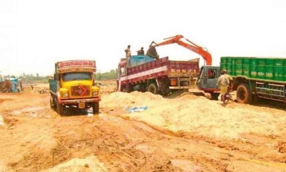 Illegal sand mining rampant in Srikakulam