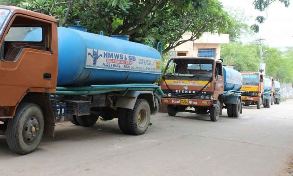 Suburban areas in grip of water crisis