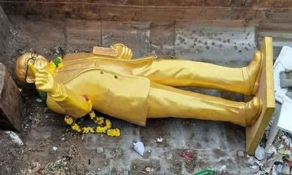 Demand to restore statue of Ambedkar