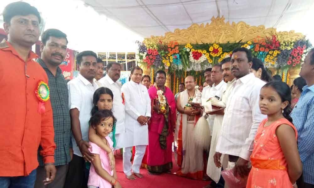MLA attends celestial wedding of Shiva