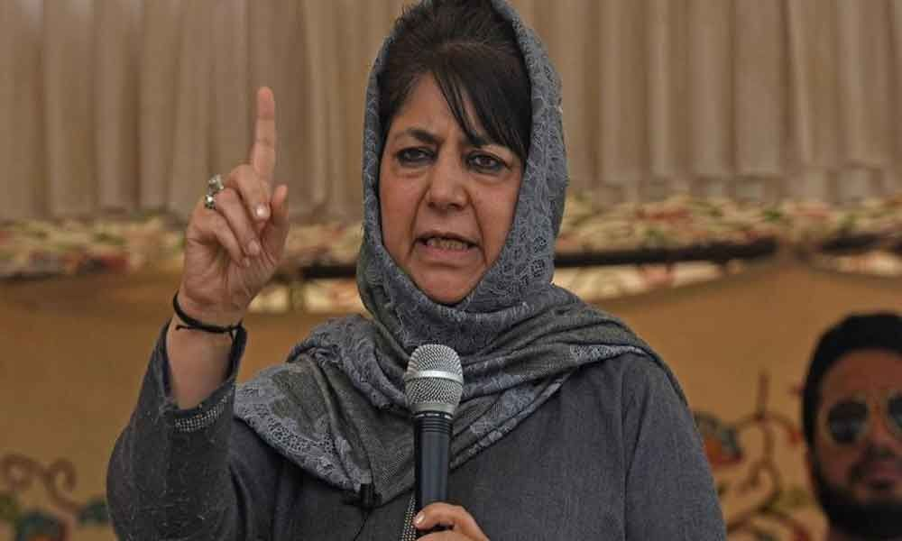 PDP president Mufti hits out at PM for bringing nuclear bombs in political discourse