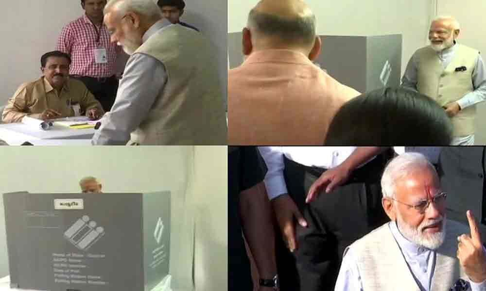 Voter ID stronger than IED: Modi after voting