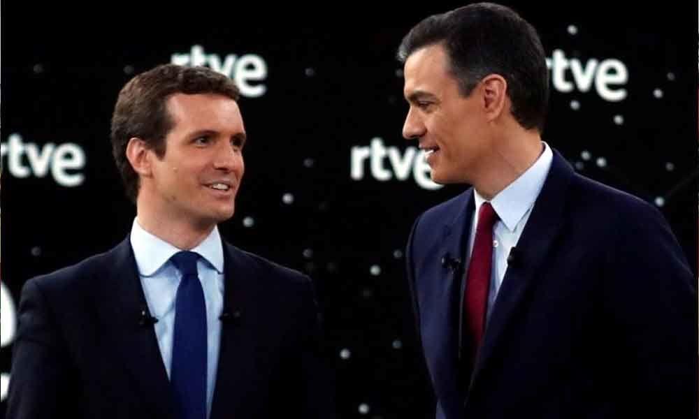 Spain PM, rivals clash over Catalonia in election debate