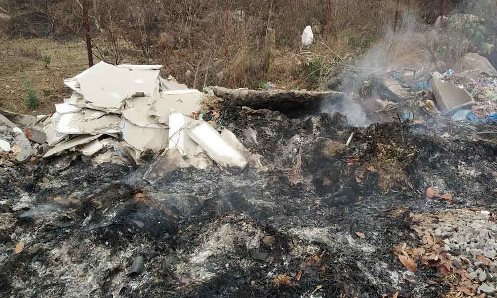 Burning of waste chokes residents
