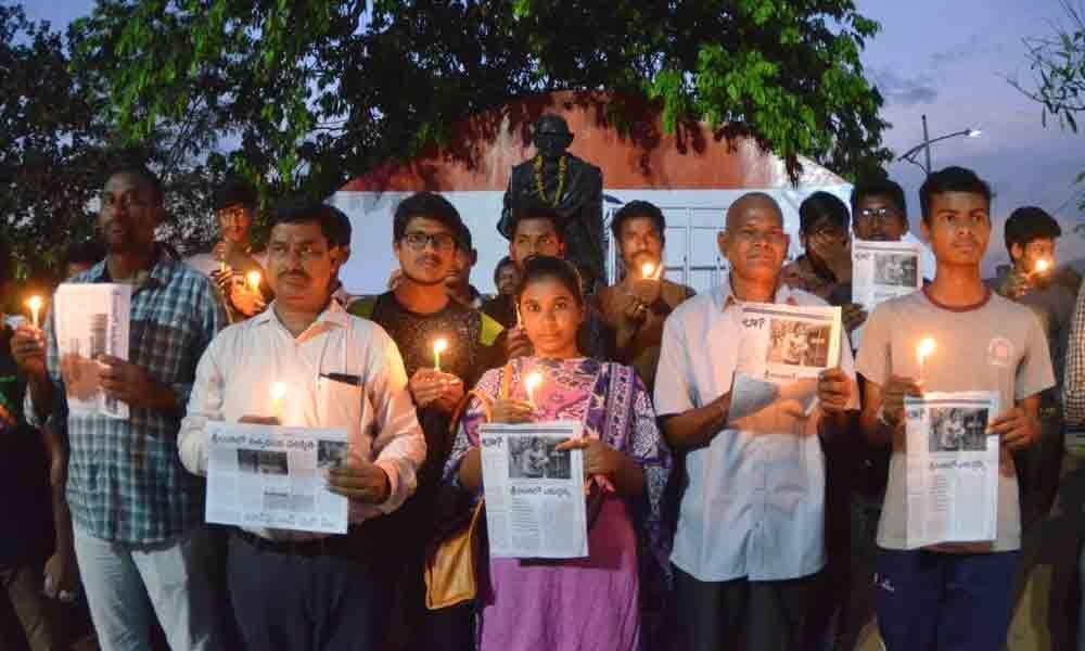 Condolences paid to Sri Lanka blast victims in Visakhapatnam