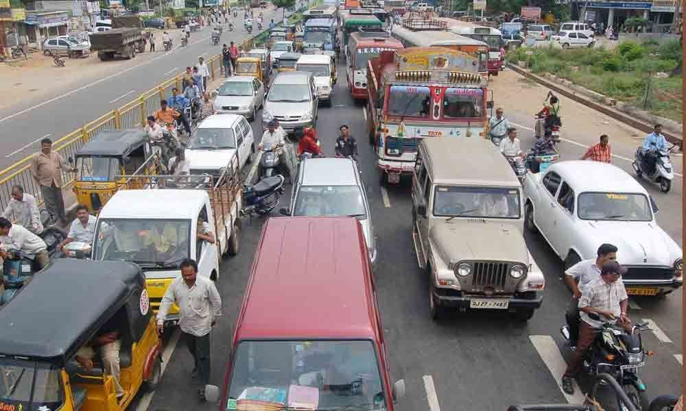 Traffic woes swell as vehicles increase to over 13 lakh