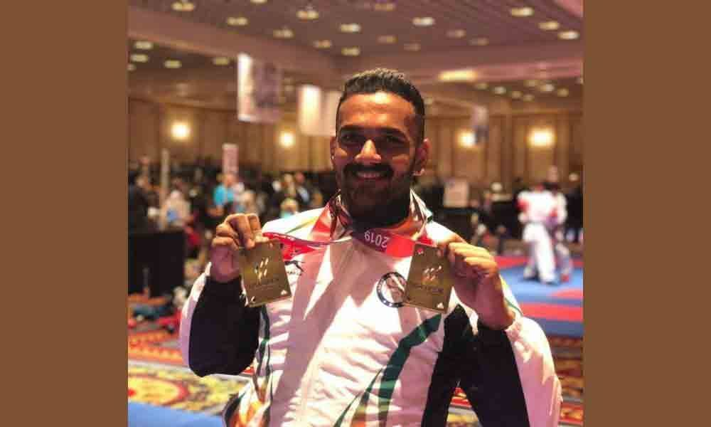 Teja bags two gold medals in USA Open