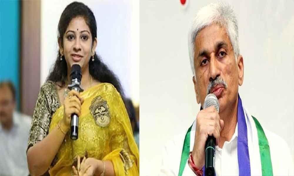 TDP leader Sadineni Yamini slams YSRCP MP Vijayasai Reddy