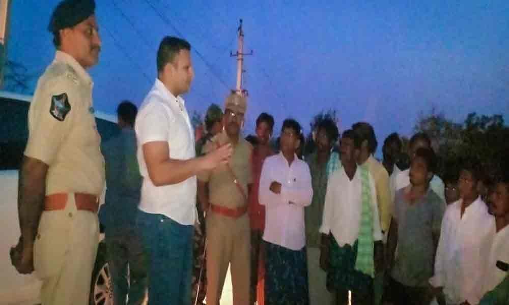 SP visits Kalanuthala village