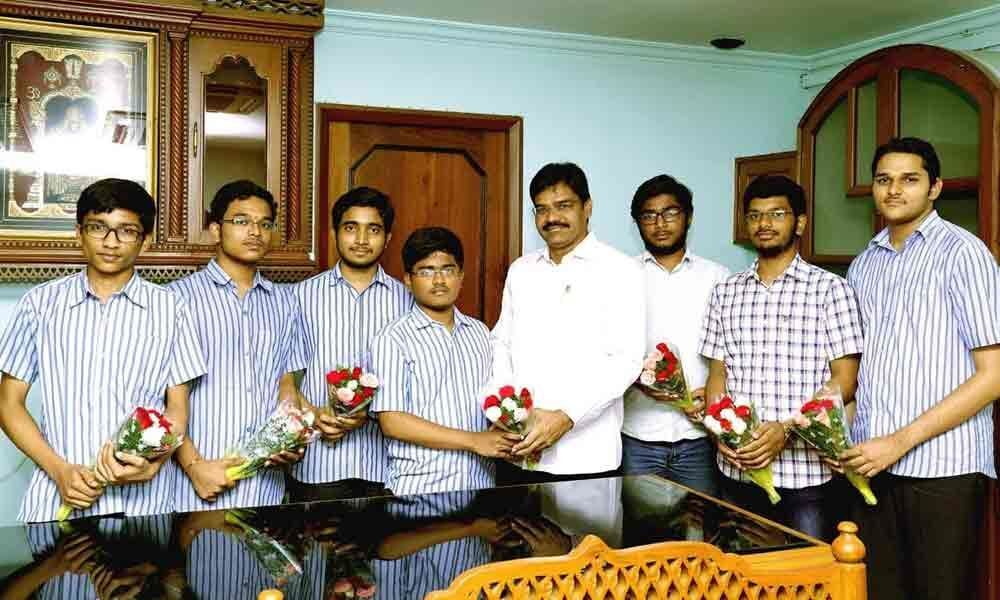7 students of Bhashyam selected for scholarships