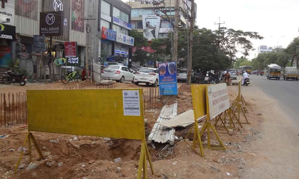 Foot over Bridge works commence finally at AS­ Rao Nagar