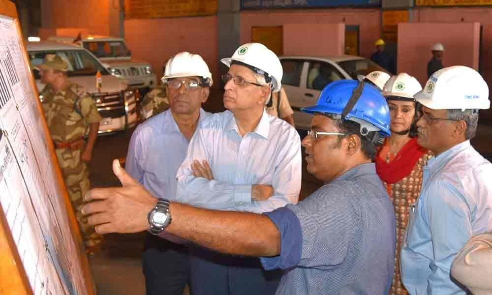 Central Steel Secretary visits VSP