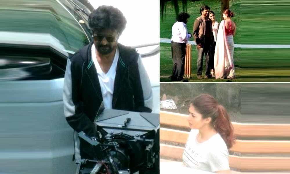 Rajinikanth And Nayanthara Shooting For Darbar In Mumbai